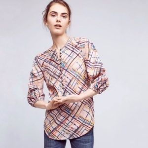 Maeve • Anthro Bethesda Abstract Flannel Top
